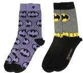 Batman Officially Licensed Ladies DC Comics Sketch Assorted Socks 2 Pack