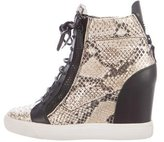 Giuseppe Zanotti Leather Wedge Sneakers