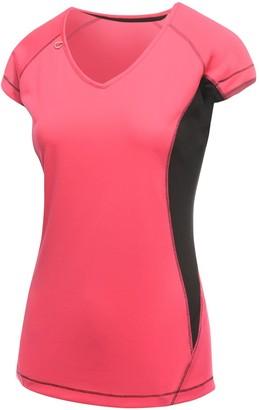 Regatta Activewear Womens Beijing Short Sleeve T-Shirt (10) (Hot Pink/Black)