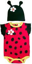 Sozo Baby Ladybug Bodysuit & Cap Set