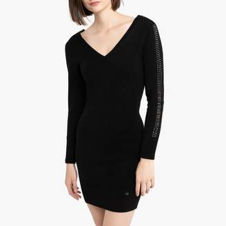 Kaporal Stud Detail Bodycon Dress with Low-Cut Back