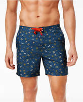 "Original Penguin Men's 6"" Slim-Fit Drawstring Floral Volley Shorts"