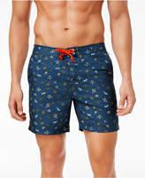Original Penguin Men's 6and#034; Slim-Fit Drawstring Floral Volley Shorts