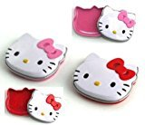 Hello Kitty Lip Shine Gloss in Face Shape Tin x 2 (1 Red 1 Pink)