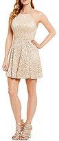 B. Darlin Strappy Back Lace Swing Dress