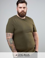 Asos PLUS Muscle T-Shirt In Green With Crew Neck