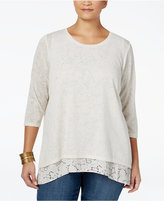 Style&Co. Style & Co. Plus Size Layered-Look Top, Only at Macy's
