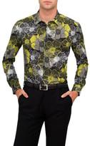 Versace Poplin Acid Floral Print Shirt