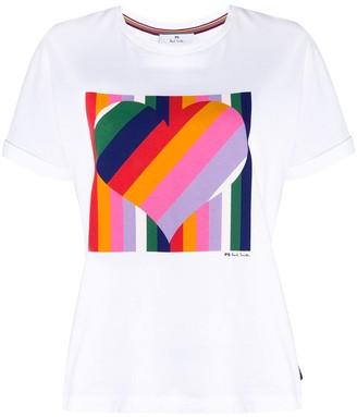 Paul Smith stripe love heart T-shirt