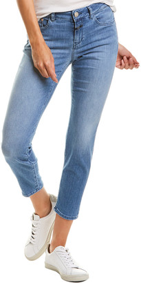 Closed Slim Fit Mid Blue Mid Waist Crop