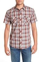 Brixton Men's 'Memphis' Trim Fit Plaid Short Sleeve Woven Shirt
