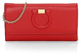Salvatore Ferragamo Women's Mini Gancini Leather Wallet-On-Chain