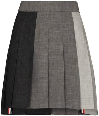 Thom Browne Knife-Pleat Mini Skirt