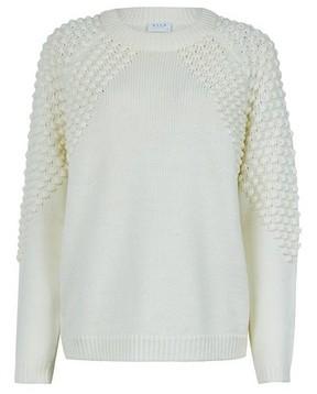 Dorothy Perkins Womens Vila White Textured Knitted Cowl Neck Jumper, White