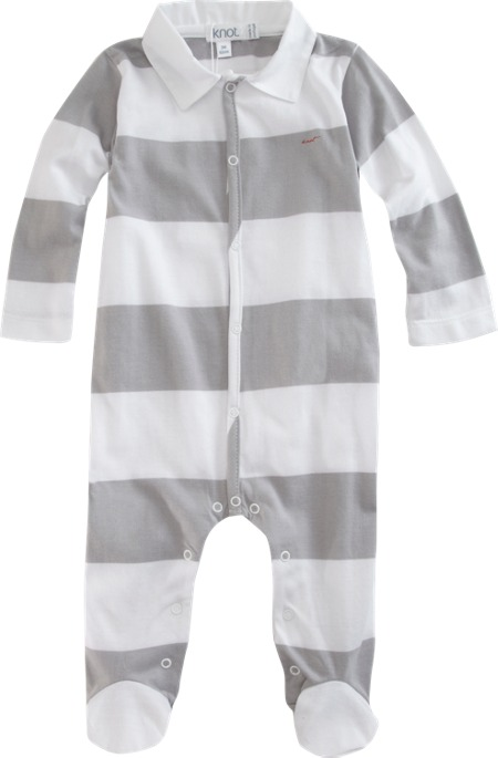 Knot Rugby Stripe Footie Sale up to 60% off at Barneyswarehouse.com
