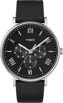 Timex Men's TW2R29000GP Fashion Style Roman Numeral Dial and Leather Strap Watch