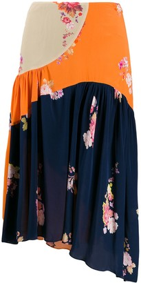 Preen Line Lilja colour block skirt