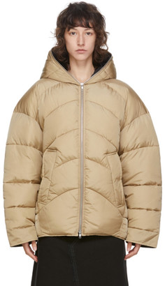 Random Identities Beige Duvet Jacket