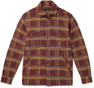 Beams Checked Wool-Flannel Overshirt