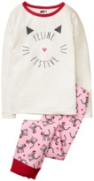 Crazy 8 Sparkle Cat 2-Piece Pajama Set