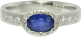 Adel Chefridi Oval Blue Sapphire Ring - Platinum
