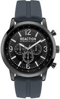 Kenneth Cole Reaction Men's Gunmetal Gray Silicone Strap Watch 44mm 10030931