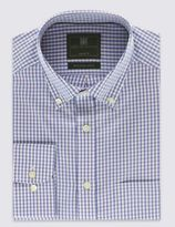 Marks and Spencer Pure Cotton Gingham Oxford Shirt