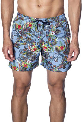 Jared Lang Men's Paisley Printed Swim Trunks