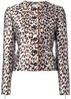 Christopher Kane boxy leopard jacket - women - Polyester/Viscose - 40