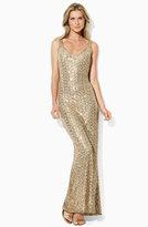 Lauren by Ralph Lauren Sleeveless Sequin Gown