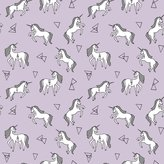 Spoonflower Unicorn Fabric - Unicorn Pastel Lilac Lavender Pale Girls Sweet Unicorns Fabric by andrea_lauren - Printed on Kona Cotton Fabric by the
