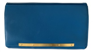 Elie Saab Turquoise Leather Clutch bags