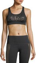 Puma Powershape Forever Metallic Logo Performance Sports Bra