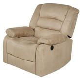BEIGE Reclining Heated Massage Chair Red Barrel Studio Fabric