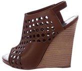 Proenza Schouler Laser Cut Wedge Sandals