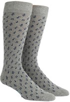 The Tie Bar Grey Music Notes Socks