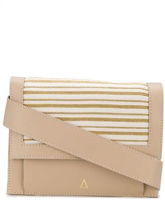 ZEUS + DIONE Poros stripe detail crossbody bag