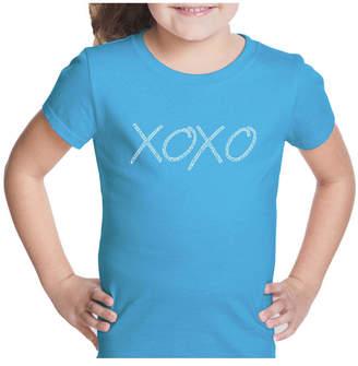 XOXO La Pop Art Girl Word Art T-Shirt