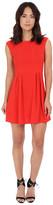 Gabriella Rocha Crepe Cap Sleeve Fit & Flare Dress