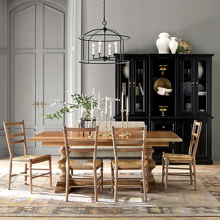 Ballard Designs Casa Florentina Tarvine Double Pedestal Extension Dining Table Custom Shopstyle