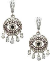 Judith Ripka Sterling Evil Eye Dangle Earrings