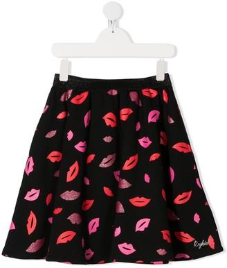Sonia Rykiel Enfant TEEN glitter lips print skirt
