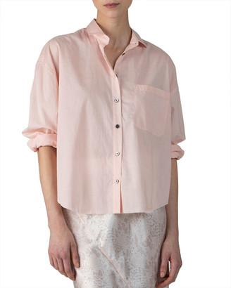 ATM Anthony Thomas Melillo Crosshatch Cotton Button-Down Shirt