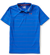 Under Armour Big Boys 8-20 Playoff Striped Polo Shirt