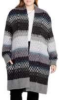 Rachel Roy Ombre Diamond Sweater Coat