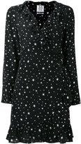 Zoe Karssen stars print ruffled dress - women - Silk - M