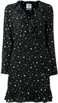Zoe Karssen stars print ruffled dress - women - Silk - XS