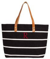 Cathy's Concepts Monogram Stripe Tote - Black
