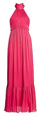 Zimmermann Women's Gathered Bow Tie Halter Maxi Dress