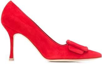 Manolo Blahnik heeled bow pumps